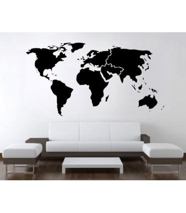 برچسب نقشه جهان کوچک