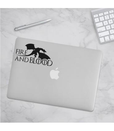 استیکرFire And Blood1