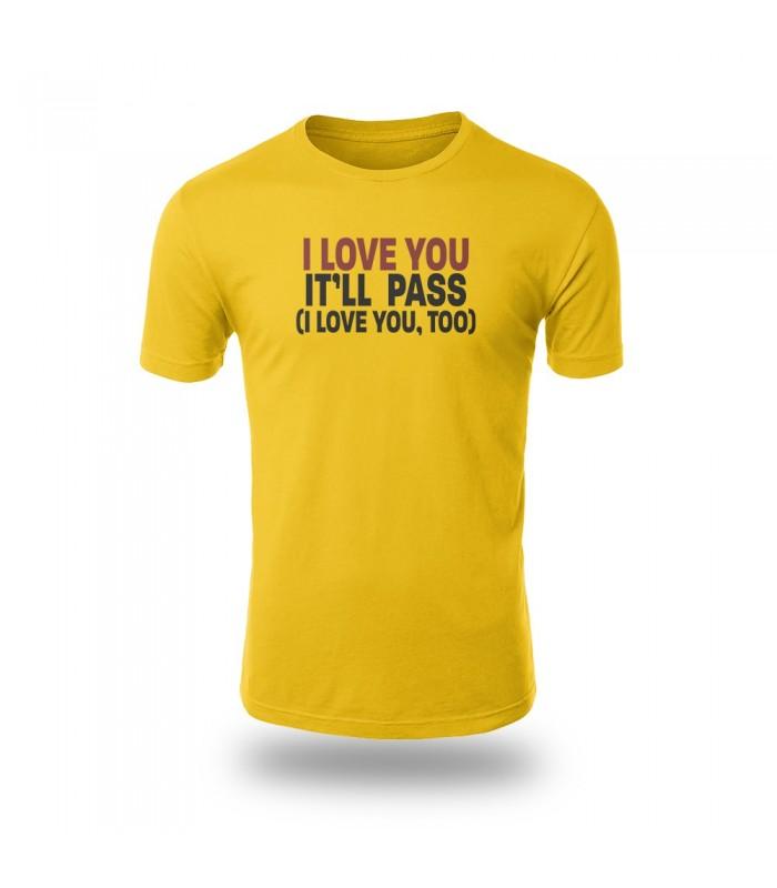 تی شرت I Love You - طرح دو